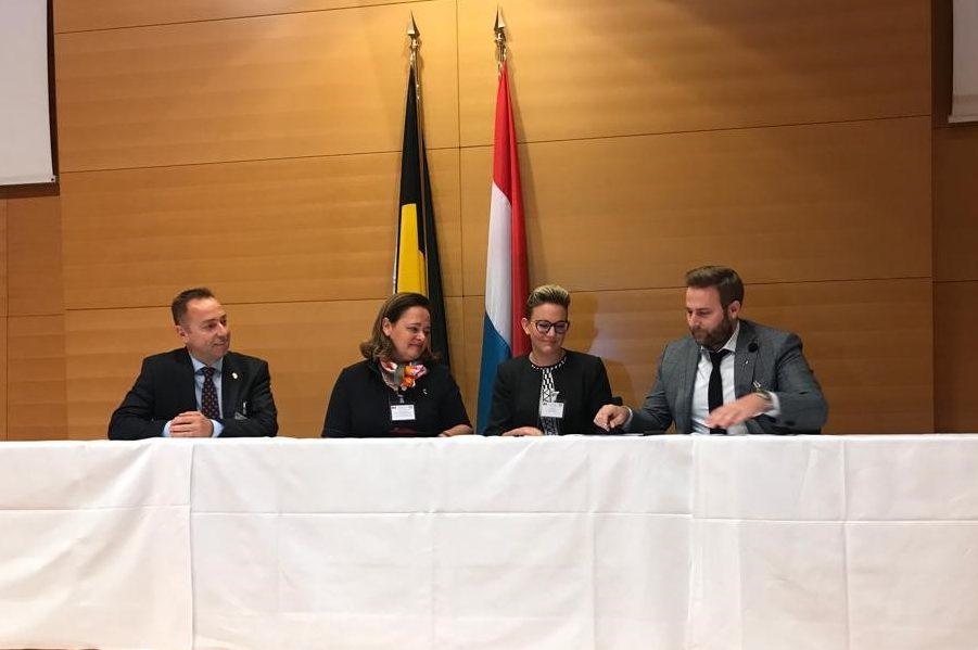 Octobre 2019. Notre Visite d'Etat au Grand-Duché de Luxembourg pour la signature du protocole de collaboration avec OST-Fenster S.A. pour la cocréation d'un châssis bois-aluminium innovant.